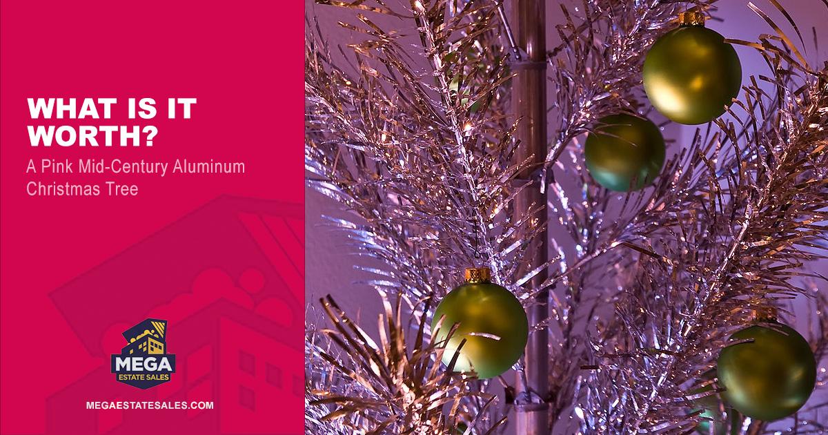 Pink Mid-Century Evergleam Aluminum Tree